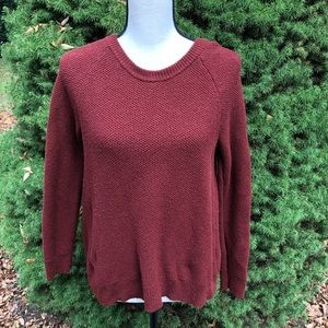 Madewell burgundy cross back sweater medium